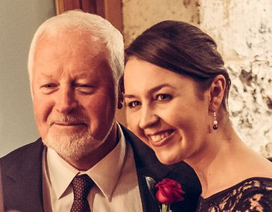 Danielle Conlan with her father Chris before his death