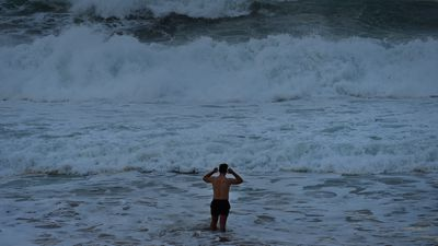 Swimmer at Coogee Beach