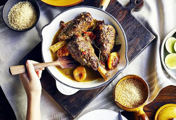 Marrakech lamb shanks