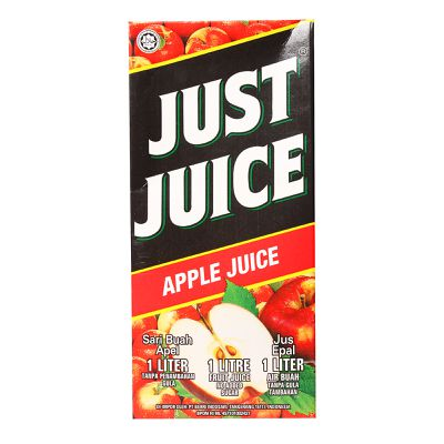 <strong>Just Juice Apple Juice = 10.1 grams of sugar per 100ml</strong>