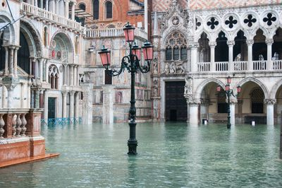 St. Mark's square (Piazza San Marco) submerged