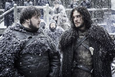 John Bradley, Kit Harington, Game of Thrones, filming