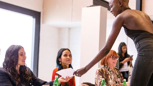 Gomes and young designer Lyn Al-Young were among the panelists. Picture: AAP
