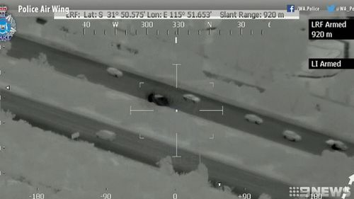Police tracked the men as they raced across Perth. (9NEWS)