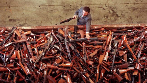 During the gun amnesty after the Port Arthur massacre (AAP).