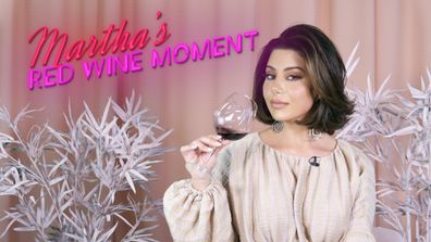 Martha's Red Wine Moment from Dinner Party #3