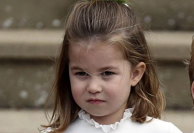 Princess Charlotte arriving for a wedding