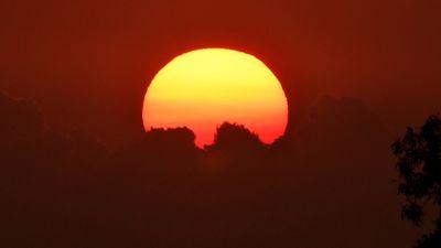 Bushfire sunrise
