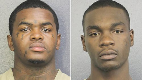 Dedrick Devonshay Williams (left) and Michael Boatwright have been indicted for the murder of rapper XXXTentacion. Picture: CNN
