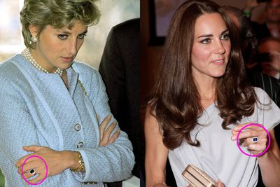 And of course...the ring. Once it was Princess Di's, now it's Kate's.