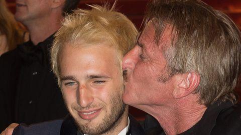 Sean Penn and son Hopper.