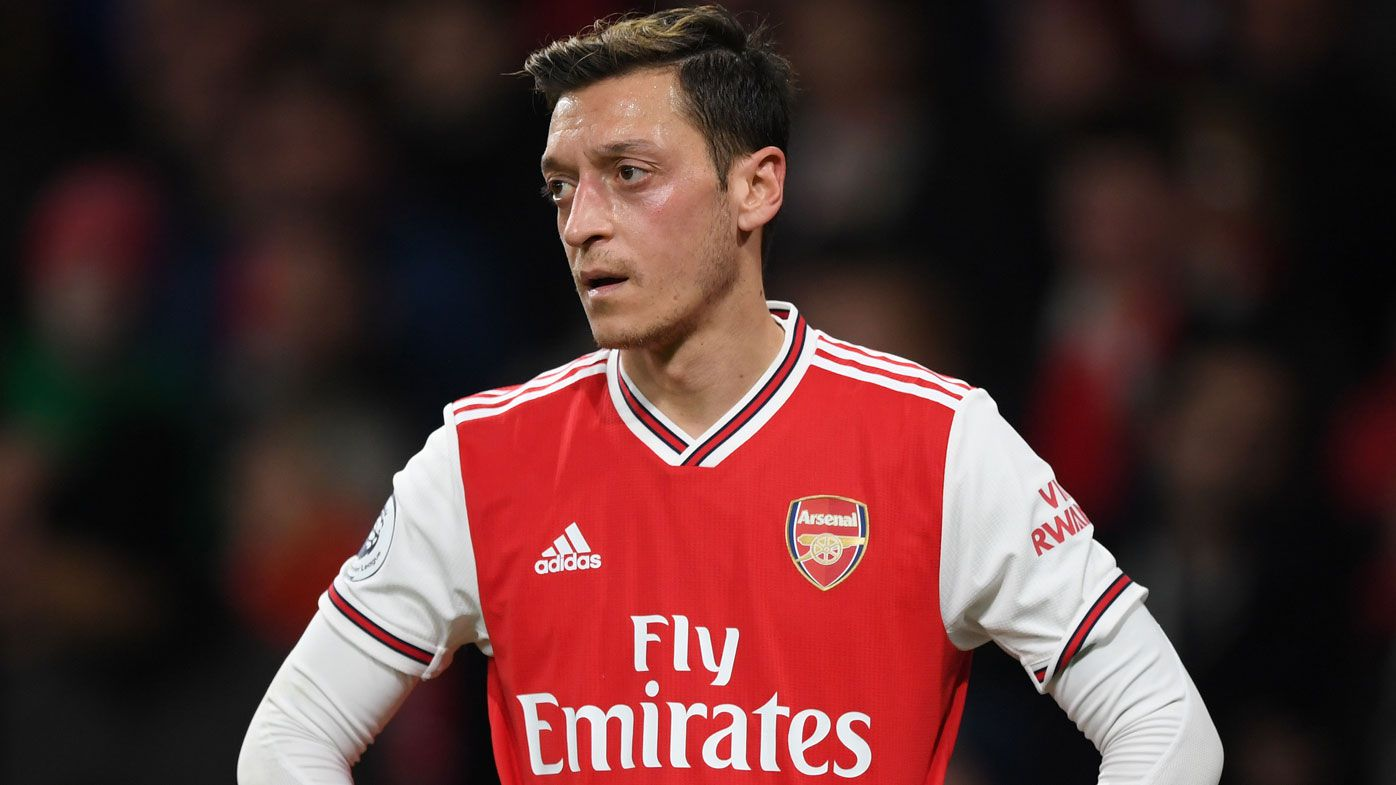 Mesut Ozil of Arsenal during the Premier League match