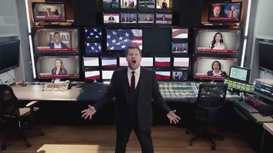 James Corden in One Day More parody on Donald Trump's last day in office