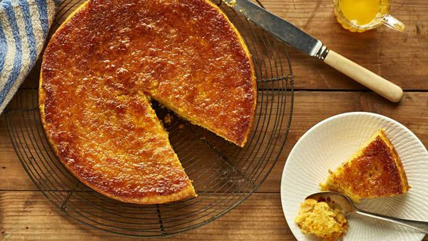 Orange chickpea cake with spiced syrup recipe for McKenzie's Foods