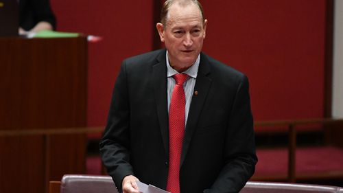 Former One Nation senator Fraser Anning has announced he is joining maverick Queensland MP Bob Katter's political party. (AAP)