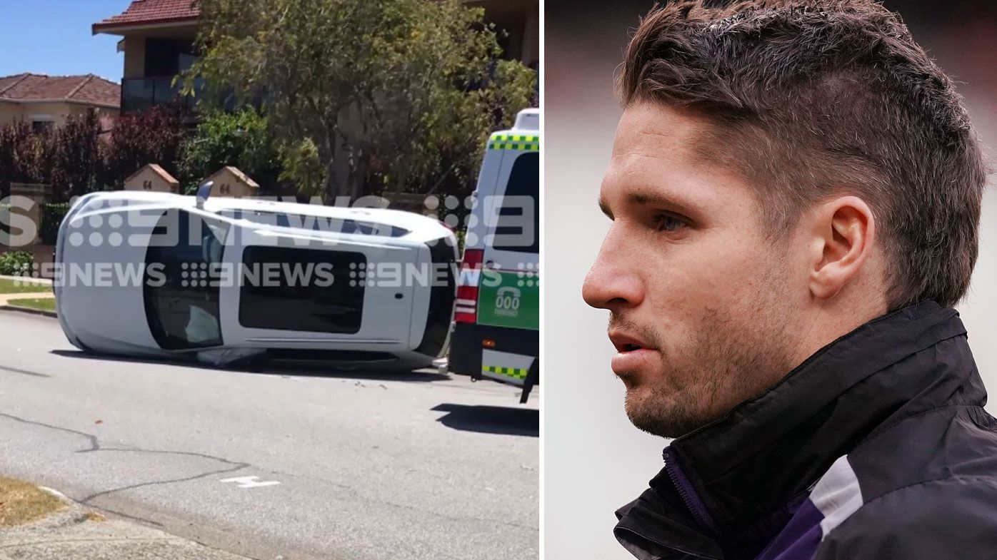 Jesse Hogan flips car in Perth