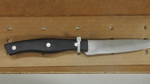 The knife used to stab Payton Leutner. (Waukesha Police)