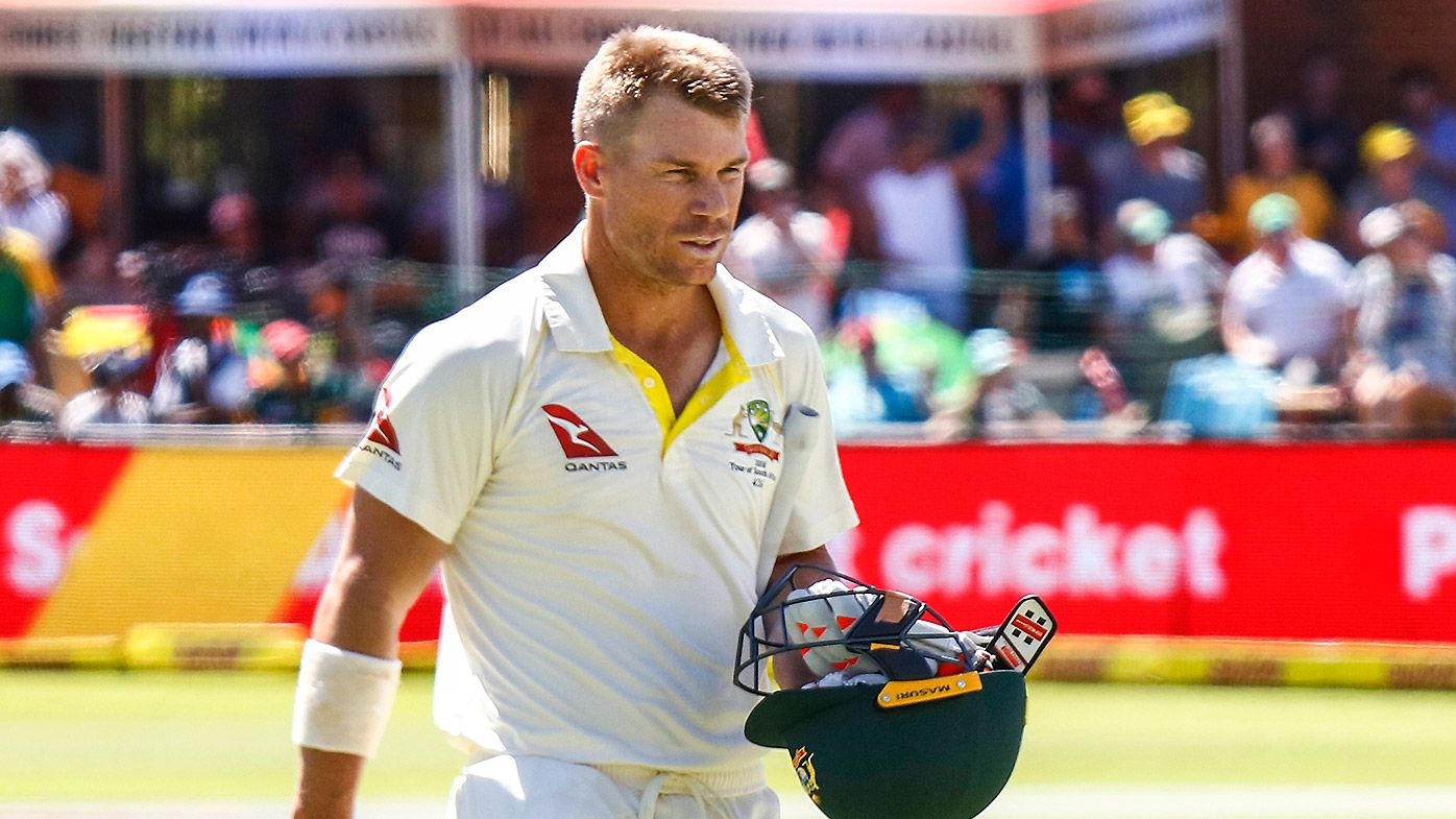 Warner in verbal altercation with fan following dismissal