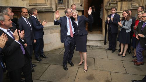 Theresa May and her husband Philip (Getty)