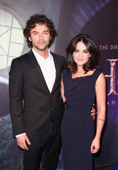 Sarah Greene and Aidan Turner attend the Irish Premiere of 'The Hobbit: An Unexpected Journey' at Cineworld on December 9, 2012 in Dublin, Ireland.