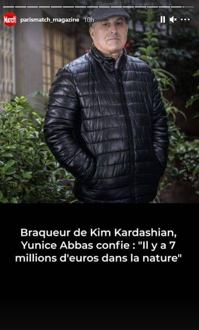 Yunice Abbas promotes his new book J'ai Séquestré Kim Kardashian (I Kidnapped Kim Kardashian).