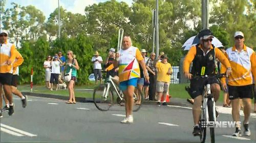The baton has travelled 230,000km to reach the Gold Coast. (9NEWS)