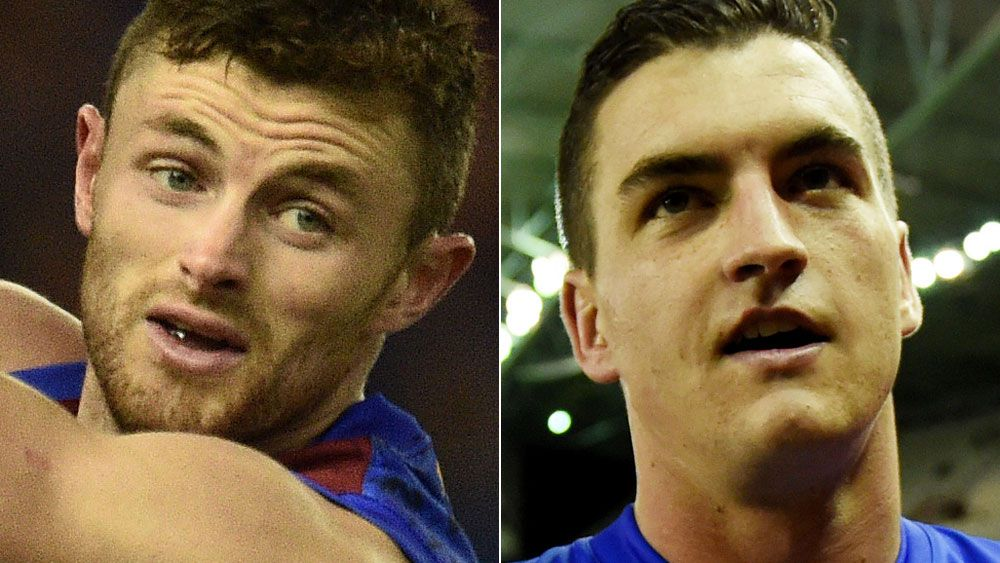 Pearce Hanley and Tom Rockliff. (AAP)