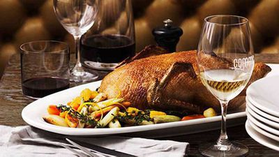 """<a href=""""http://kitchen.nine.com.au/2016/05/16/16/15/whole-roast-duck-with-winter-vegetables-and-orange"""" target=""""_top"""">Whole roast duck with winter vegetables and orange</a> recipe"""