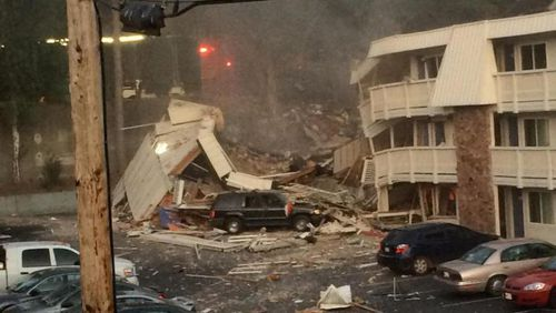 The blast is believed to have been triggered by a gas leak. (Q13 FOX)