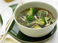 Green tea and vegetable broth
