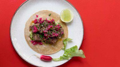 Toby Wilson's beef short rib taco