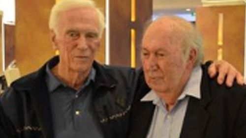 Gene Cernan, the last man on the moon, with Prof O'Brien
