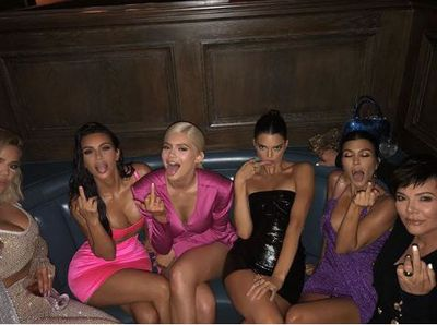 Khloe Kardashian, Kim Kardashian, Kylie Jenner, Kendall Jenner, Kourtney Kardashian and Kris Jenner at the 21st birthday celebrations of Kylie Jenner
