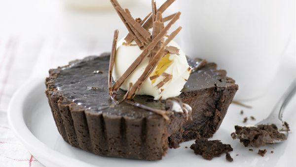 Chocolate on chocolate tarts