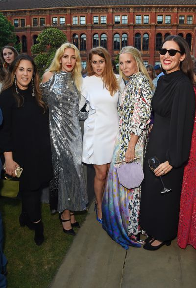 Mary Katrantzou, Sabine Getty, Princess Beatrice of York, Alice Naylor-Leyland and Emilia Wickstead