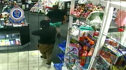 Authorities say the man attempted to rob the store while aiming the firearm towards a staff member. Picture: Supplied.