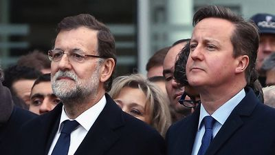 Spanish Prime Minister Mariano Rajoy and British Prime Minister David Cameron were among the mourners. (AAP)