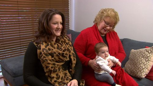 """Next thing, Gabrielle had a contraction and bang the baby's there,"" a joyous Mrs Patten-Barwiese told 9NEWS."