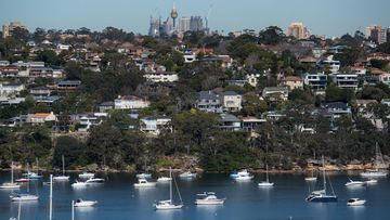 A file photo of homes in Beauty Point, Sydney on July 22, 2020.