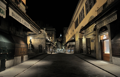 Ponte Vecchio is seen empty on November 6, 2020 in Florence, Italy.