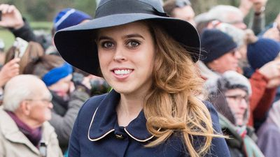 Princess Beatrice pictured on Christmas Day, December 2018
