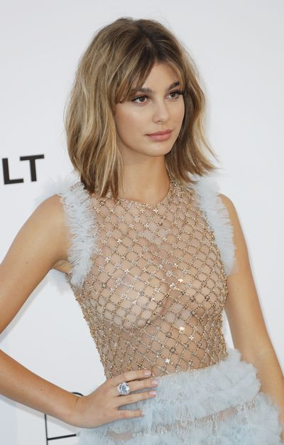 American-Argentinian model Camila Morrone in Ralph and Russo could trawl for fish with that bodice.
