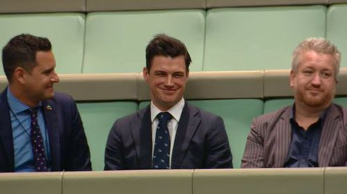 Ryan Bolger was sitting in the gallery during Mr Wilson's speech.