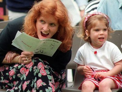 Princess Eugenie with Sarah Ferguson.