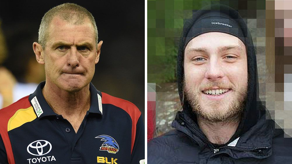 Phil Walsh (left) and his son Cy. (AAP)