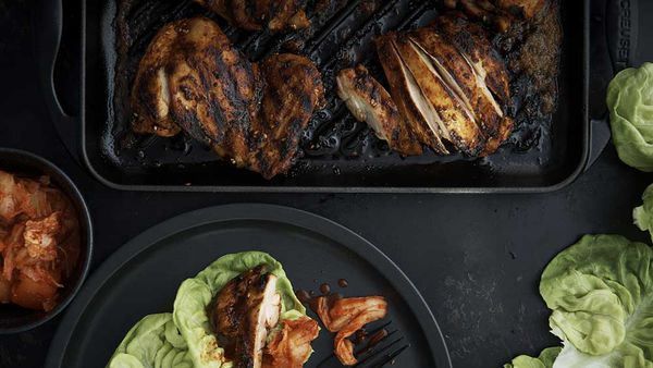 Neil Perry's Korean spice- rubbed chicken
