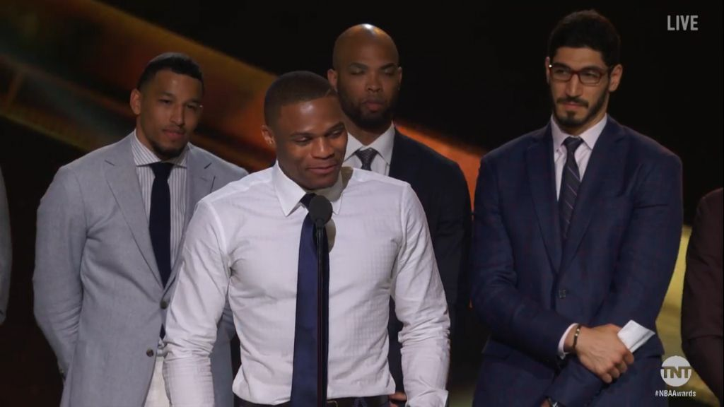 Westbrook gets emotional during MVP speech
