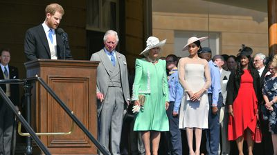 The newlyweds attend Prince Charles' 70th celebrations, 22 May 2018