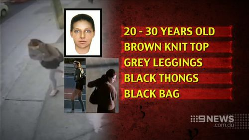 Anyone who recognises the woman is urged to contact Crime Stoppers. (9NEWS)