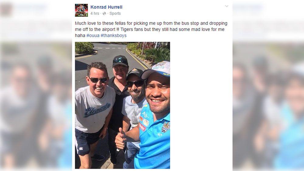 Konrad Hurrell and his newfound friends (Facebook)